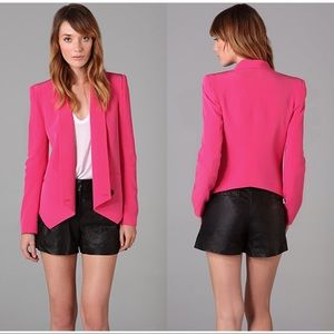 Rebecca Minkoff fuchsia pink silk jacket